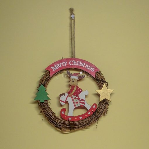 Karácsonyi Fa ajtódísz - Szarvas