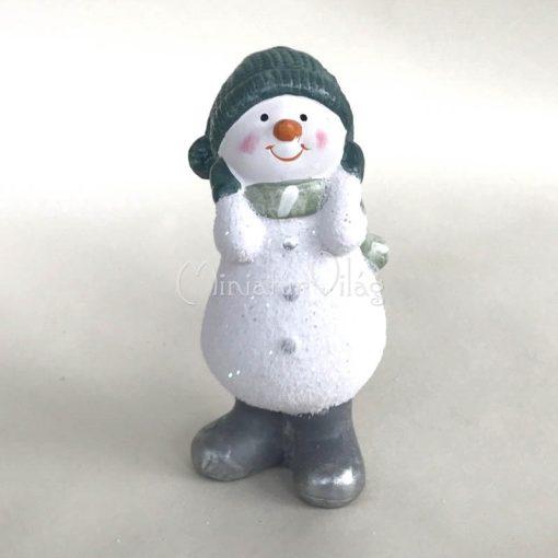 Karácsonyi dísz - Kerámia Hóember