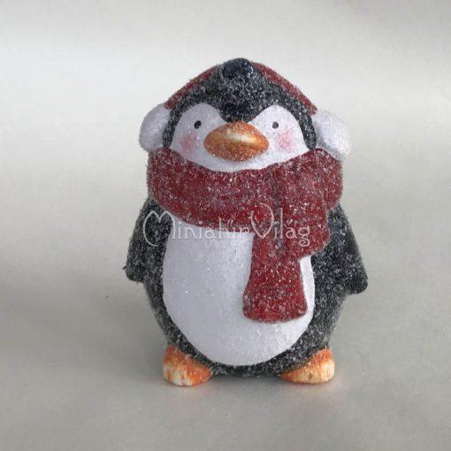 Karácsonyi dísz - Kerámia Pingvin