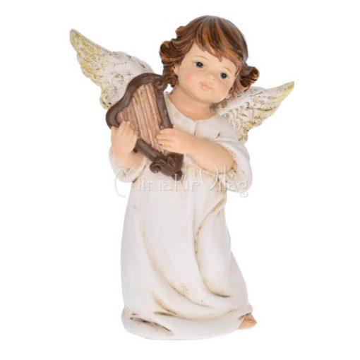 Karácsonyi dísz - Angyal Hárfával