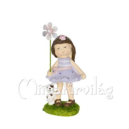 Kislány kutyával figura