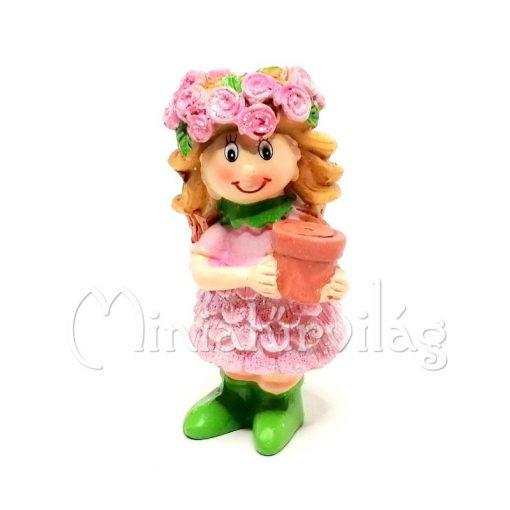 Kislány Virággal Figura