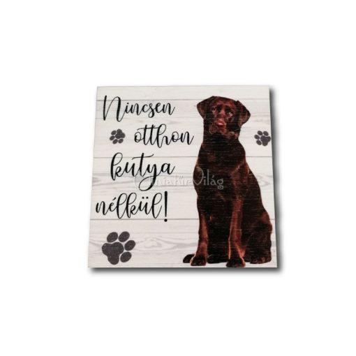 Fa tábla - Kutya Labrador