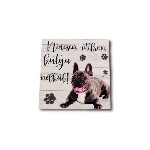 Fa tábla - Kutya Francia bulldog