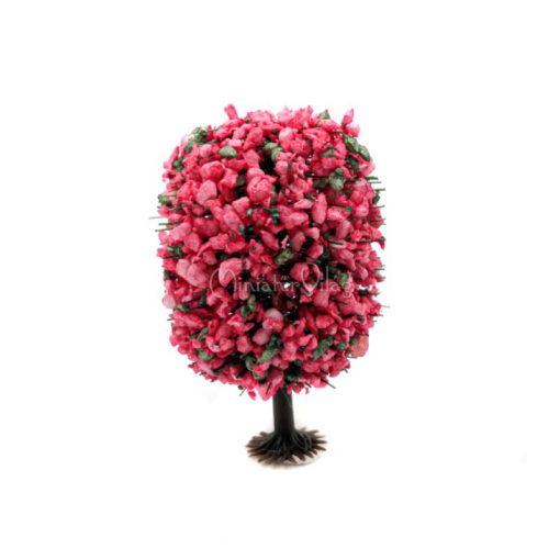 Rózsaszín virágos fa 6 cm