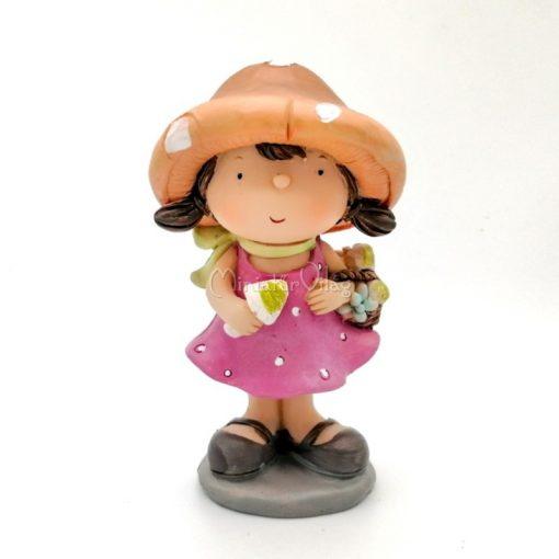 Gomba kalapos lány