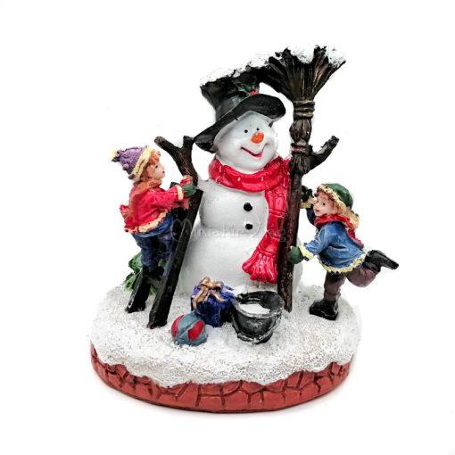 Téli falu - Gyerek Hóemberrel Figura