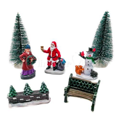 Téli falu - Figurák 7 db-os szett